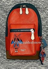 NEW Coach Marvel West Pack Spider-Man 2407 Limited Edition Red Leather