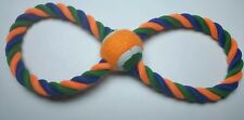 BRAND NEW Double Ring Rope Tug with Mini Tennis Ball Classic Puppy Dog Toy!