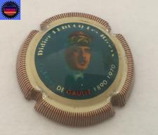 Capsule de Champ LEDUCQ DIDIER Charles de Gaulle Fond Bleu Foncé Peint par RD !!