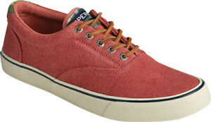 NEW Mens SPERRY TOP SIDER STRIPER CVO WASHED Red CANVAS Sneaker Shoes GENUINE