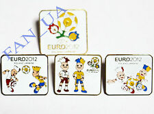 4 Badge Pin EURO 2012 Ukraine Italy Germany England France SPAIN Sweden RUSSIA