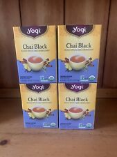 4 X YOGI CHAI BLACK TEA 64 BAGS BEST BY 2/2022