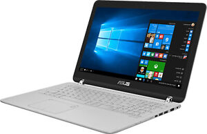 ASUS Q504 15.6in Touch Flip Business LAPTOP 3.1Ghz 8GB 1TB Backlit Win 10 Silver