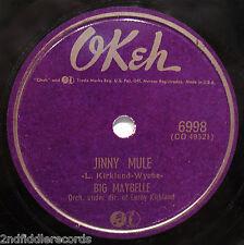 BIG MAYBELLE-Jinny Mule & Send For Me-Rarer Female Vocal Blues 78-OKEH #6998