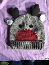 One Size Reindeer Wooly Hat