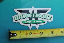 Wavefront Surf Shop Surfboards Vintage Surfing Sticker