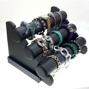 Schmuckständer Armbandständer Armbandhalter Uhrenaufsteller Organizer schwarz