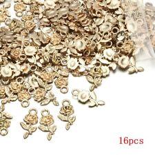 16pcs Tibet silver Rose Flower Charm Pendant beads DIY Jewelry Making Hot