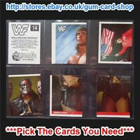 MERLIN STICKERS - WWF WRESTLING 1990 (VG) *PLEASE CHOOSE YOUR STICKER*