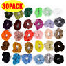 Womens Hair Scrunchies Ladies Girls Elastic Scrunchy Bobbles Velvet Sports Bands