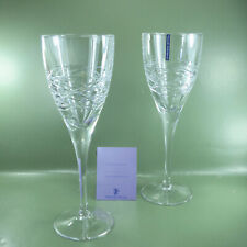 More details for edinburgh orrin crystal wine goblet, a pair, in original box. unused old stock