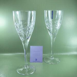 Edinburgh Orrin Crystal Wine Goblet, a pair, in original box. Unused Old Stock