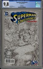 SUPERMAN UNCHAINED #6 - CGC 9.8 - LEE & WILLIAMS B & W VARIANT - 1255778023