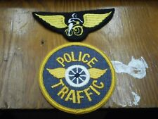 Lot of 2 - Obsolete Traffic Police Patch and Motorcycle Wings Patch