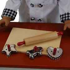 """5PC BAKING ACCESSORY SET fits 18"""" American Girl Doll Kitchen Pastry Accessories"""