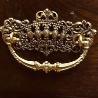 Antiqued Cast Gold Filigree Drawer Pulls w/Bale Heavy, 6 pcs to each Pull