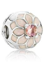 Genuine Authentic Pandora Silver Blooming Dahlia Clip Charm 791828NBP