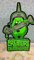 "CREATURE SKATE BOARD, STICKER, Skateboard, Snowboard, Surfboard, 6"" X 3"""