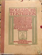 Dorschfeldt Holzarchitekturen Haus Garten von 1910 auf 60 Tafeln Auflage 5 Stück