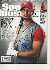 ALBERT PUJOLS Signed (3/16/09) SPORTS ILLUSTRATED w/ PSA (NO Label) - GRADED 10