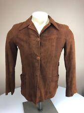 Vtg 40's-50's Levi Suede Leather  Jacket Cowboy Western Wear Pine Tree Big E Tag