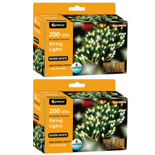 2x Sansai 200 LED Electric Lumini Decorative/Christmas String Lights Warm White