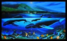 """Wyland 1980 """"Whales by Moonlight"""" Lithograph Retail $3,500"""