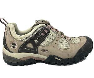 Timberland GoreTex Vibram Hiking Boot Shoe Womens Size 7 Brown Pink Black Trail