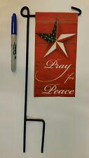 "MINI 4""x8"" Pray for Peace  with patriotic star MINI Flag 4""x8"" w/ mini stake"