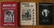 Bruce Lee Lot of (3), Fighting Spirit, Chinese Gung Fu, Tao of Wing Chun Do I,I