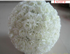 6 Inches Ivory Rose Flower Ball  Wedding Decorating Ball - USA Seller