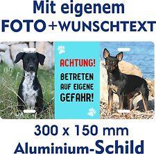 Hunde Schild gestalten eigenes Foto Text Beispiel Zwerg Reh Pinscher Jagdhund