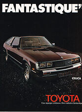 PUBLICITE ADVERTISING 114  1980  TOYOTA   CELICA FANTASTIQUE