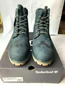 "Timberland 6"" boots premium waterproof dark jade green Men's Boots A1P5X SIZE 12"
