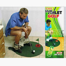 Adult Kids Children Mini Toilet Golf Funny Putting Game Home Sports Toy Gift Set