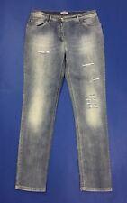 Persona jeans donna usato slim strass stretch 17 W32 tg 46 denim boyfriend T3793