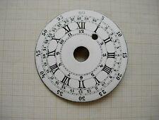 Cadran pendule,pendulette quantieme 30 jours coq clock uhr zifferblatt dial 83,5