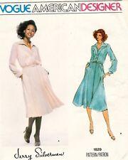 1970's VTG VOGUE Dress Jerry Silverman Pattern 1829  Size 12 UNCUT