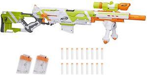 Longstrike CS-6 Nerf Modulus Toy Blaster W/Barrel Extension Bipod Scopes Kids 8+