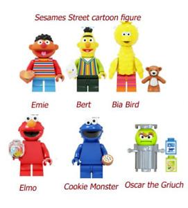 Sesame Street Characters Mini Figure Kids Figures Toys Ernie Elmo Big Bird +MORE