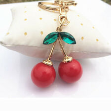 Crystal Cute Cherry Keychain Key Chain Ring Purse Handbag Ornaments Pendants