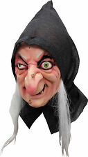 BRAND NEW Evil Witch Fairy Tale Hag Old Woman DELUXE ADULT LATEX SNOW WITCH MASK