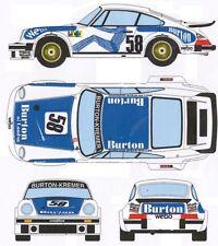 #58 Porsche 934 Burton's of London 1977 1/25th - 1/24th Scale WATERSLIDE DECALS