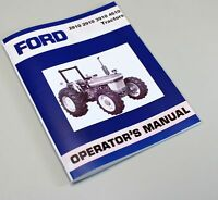 FORD MODEL 2810 2910 3910 4610 TRACTOR OWNERS OPERATORS MANUAL MAINTENANCE BOOK