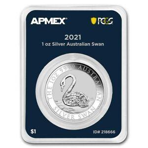 2021 Australia Swan Silver Coin 1 oz .9999 Silver ~~ MD Premier Single + PCGS FS