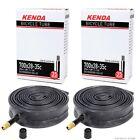"""2-Pack Kenda 700x28-35 (27"""" x 1-1/8 1-1/4"""") Schrader Valve Road Bike Inner Tubes"""