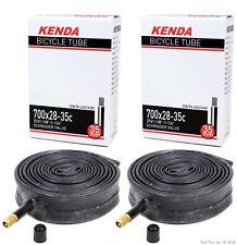 """2-Pack Kenda Road Bike Inner Tubes 700x28-35 (27"""" x 1-1/8 1-1/4"""") Schrader Valve"""