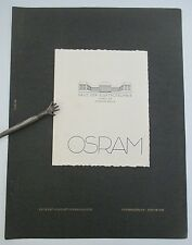 Vintage 1925 Gebrauchsgraphik OSRAM Herbert Thannhaeuser design, Erasmusdruck