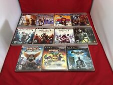 LOT Batman Arkham Ratchet Clank Assassins Creed LA Noire PS3 CIB FREE SHIPPING
