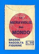 Bustina/Packet - figurine - LE MERAVIGLIE DEL MONDO - Littera - Vuota-Empty